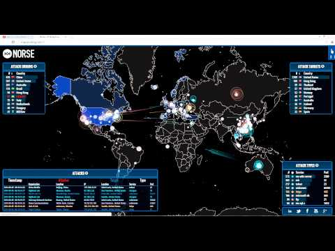Massive Cyber Attacks On The U.S.!!!!  Norse - Live Attack Intelligence