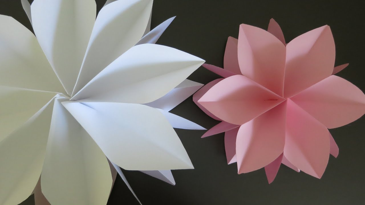 GIANT PAPER FLOWER HOW TO