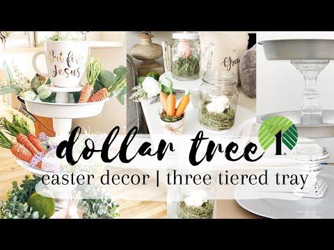 DOLLAR STORE EASTER DIY Decor | Dollar Tree | 99 cent store