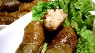 How to make Stuffed Vine Leaves (Small Dolma) - Recipe - Ντολμαδάκια Γιαλαντζί