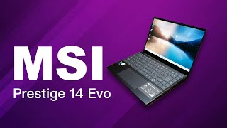 MSI Prestige 14 Evo A11M laptop based on Intel Evo Platform (Intel 11th Gen - Core i7)