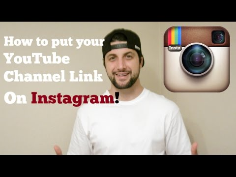 How to put your YouTube Channel Link on Instagram!