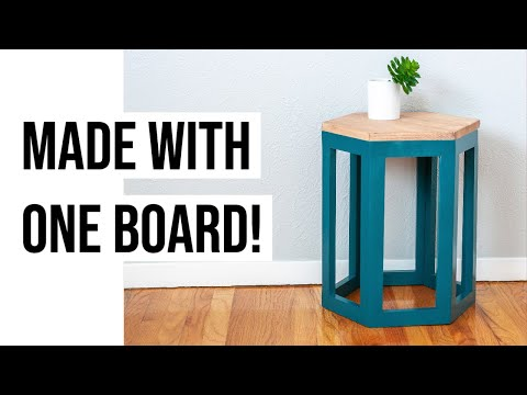 DIY Hexagon End Table - How To Make Using ONE Board - Anika's DIY Life