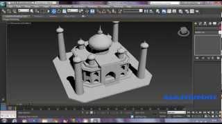 3D Max Mesh Modelling Taj Mahal