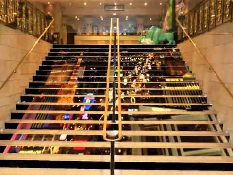 Projet escalier écran LED casino le Pharaon LYON
