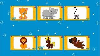 Как Нарисовать Животных для Детей Все Серии Подряд🐈 Учимся Рисовать Кошку Слона Льва Щенка Лемура