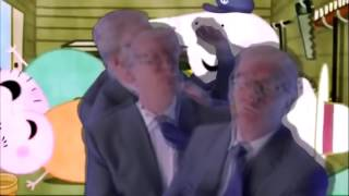 Baile de Donal Trump junto a la familia gordde Peppa
