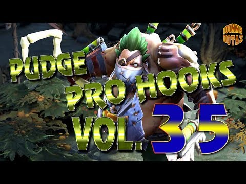 Dota 2 Pudge Pro Hooks 2017 - Weekly Hooks Vol.35