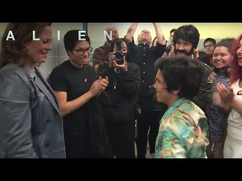 Sigourney Weaver Surprises North Bergen High Students