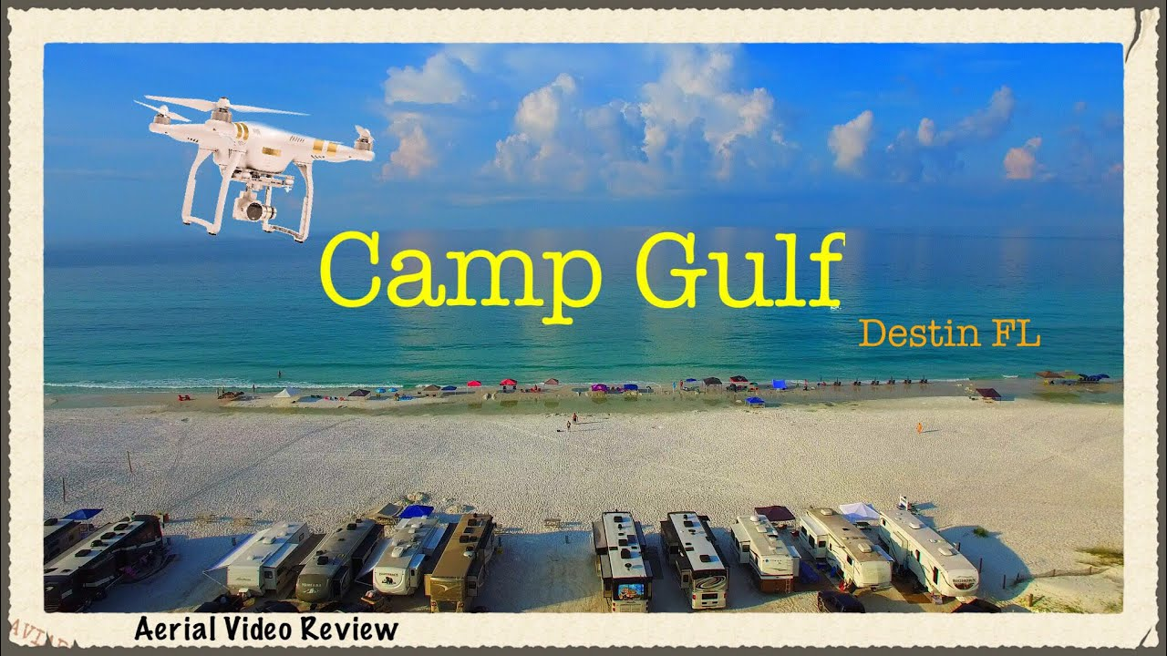 Camp Gulf Destin FL - Aerial Video Review - RV Florida - YouTube Camp Gulf Map on