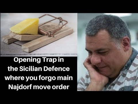 Opening Chess Trap: A trap in the Sicilian Defence where you forgo the main Najdorf move order