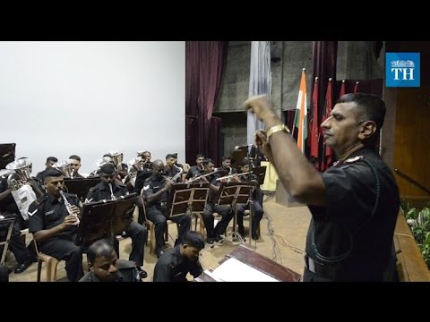 The military band of Officers Training Academy in Chennai
