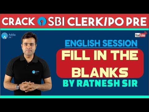 SBI PO/CLERK | Fill in the Blanks | Ratnesh sir