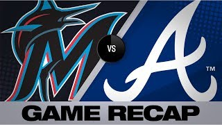 Freeman powers Braves to 5-1 win vs. Marlins | Marlins-Braves Game Highlights 8/20/19