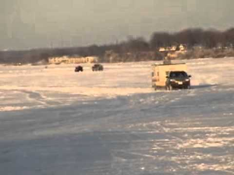 Ice fishermen feb 25 west okoboji iowa fish house pop up for Iowa out of state fishing license