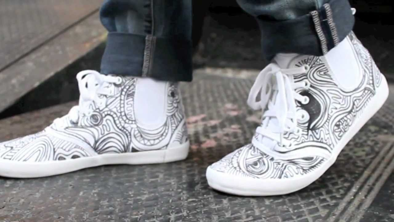 Diy Drawn On Shoes Youtube