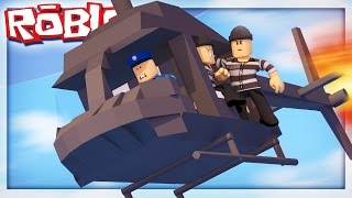 ESCAPING ROBLOX PRISON IN A HELICOPTER!