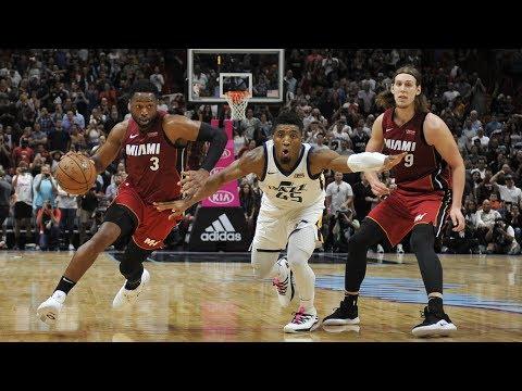 Dwyane Wade Game Winner vs Jazz! Whiteside 23 Pts 20 Rebs! 2018-19 Season