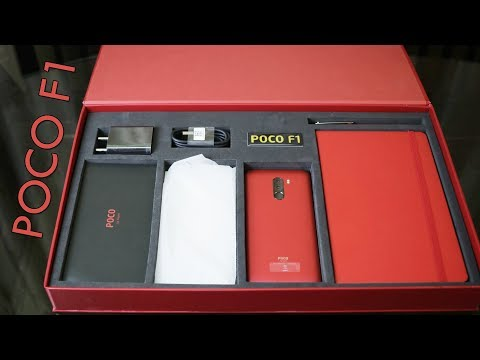Poco F1 Rosso Red unboxing (6GB/64GB) (Hindi) - Beautifully Powerful