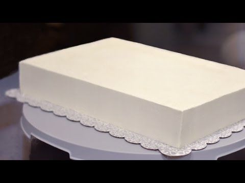 How to Frost a Half Sheet Cake