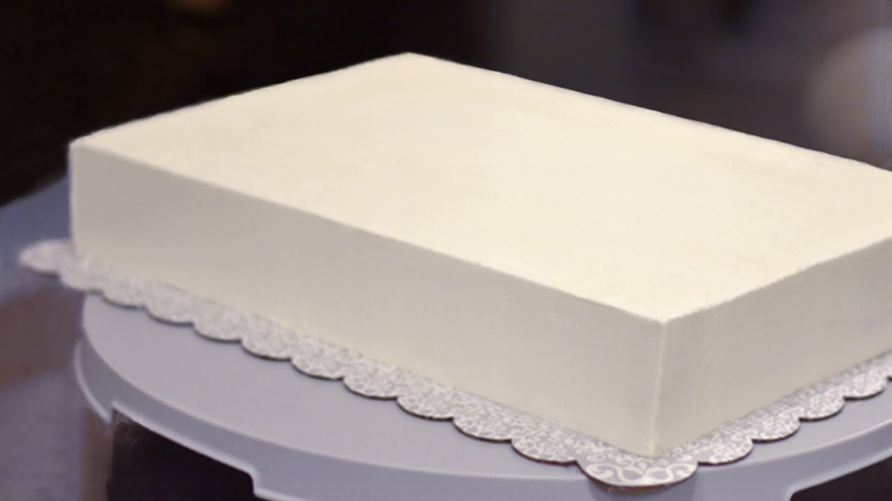 How To Frost A Half Sheet Cake Youtube