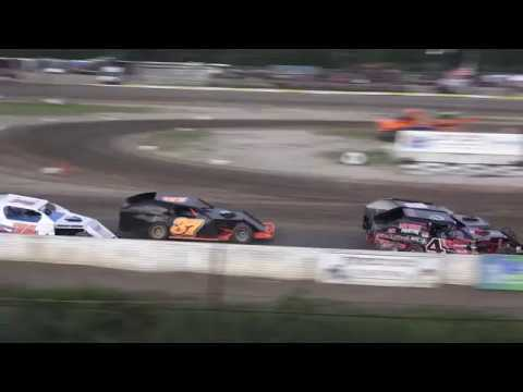 B-Mods Heat Race #2 at Mt. Pleasant Speedway, Michigan on 07-26-2019!