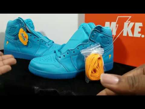 First Look  Air Jordan Retro 1 OG HIgh Gatorade Pack Retail Review ... 7cc15ee32