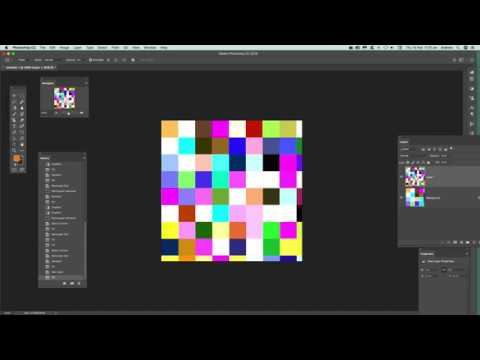 Create Random Color Blocks Using Brick Fill In Photoshop Tutorial