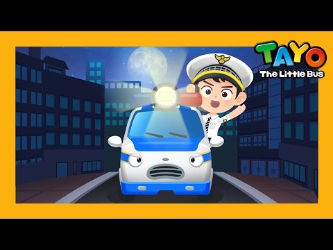 Police Car L Job Game #3 L Learn Street Vehicles L Tayo The Little Bus
