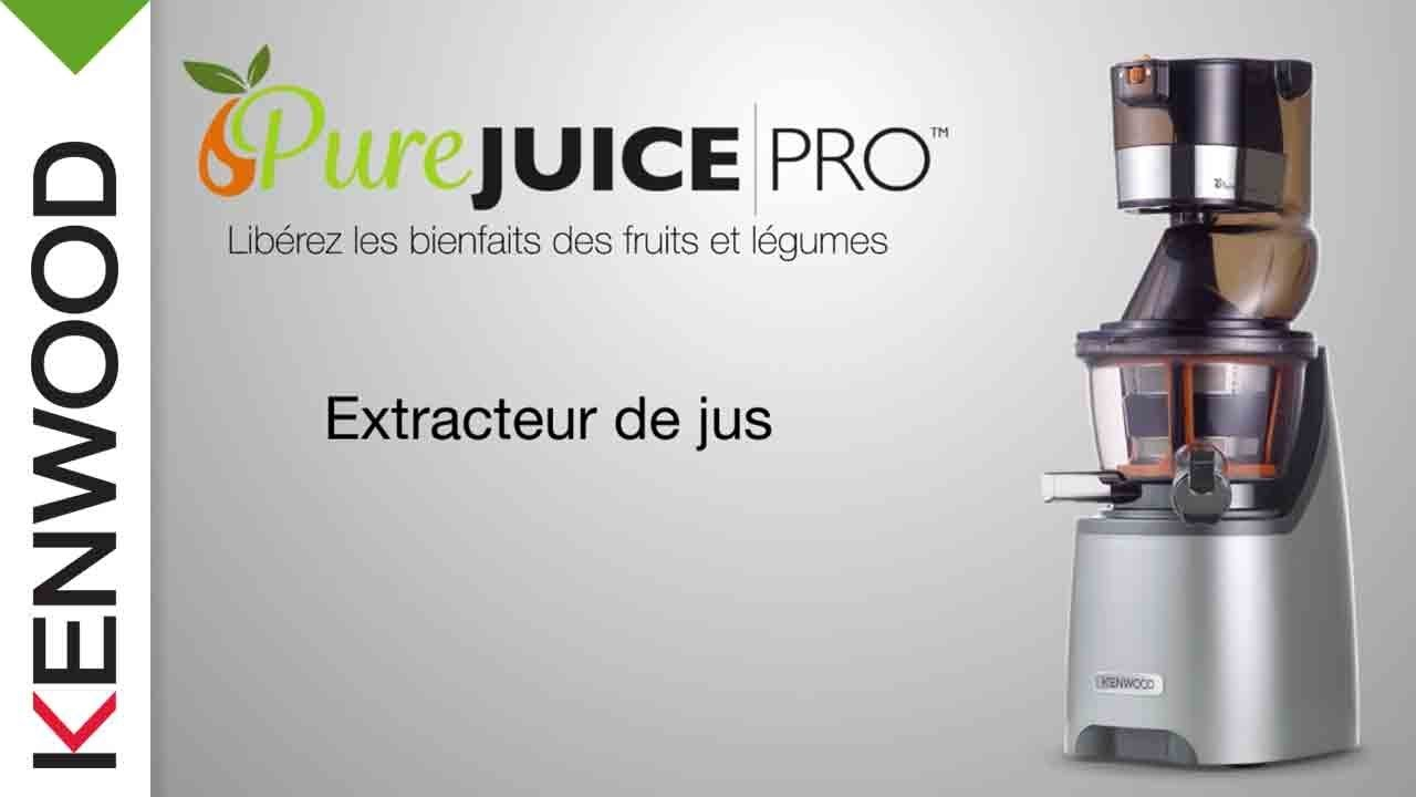 PrEsentation de l extracteur de jus Pure Juice PRO JMP800SI de Kenwood - YouTube