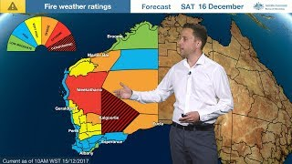 ⚠weather Update: Fire Danger & Cold Front, Western Australia And South Australia, 15 Dec. 2017