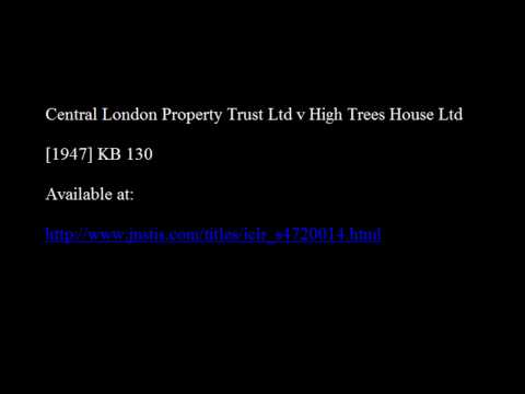 Central London Property Trust Ltd v High Trees House Ltd