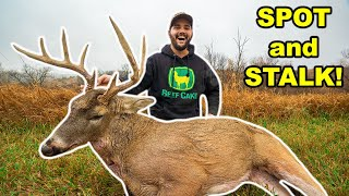 SPOT and STALKING a GIANT DEER with a CROSSBOW at My FARM!!! (Catch Clean Cook)