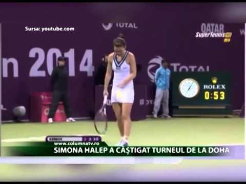 Simona Halep a câștigat turneul de la Doha (Columna TV)