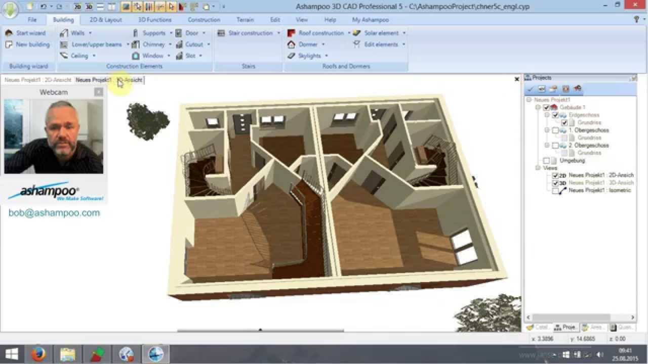tutorial ashampoo 3d cad professional no 3 stair construction