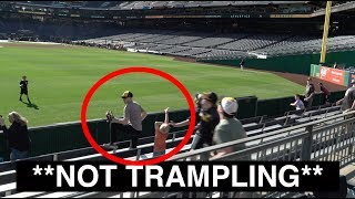 FALSELY ACCUSED of trampling a kid at PNC Park
