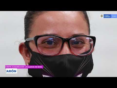 Yuli Katherine Varón, docente vacunado