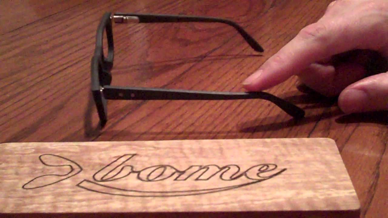 Panto Adjustment Bome Wooden Frame Eyewear - YouTube