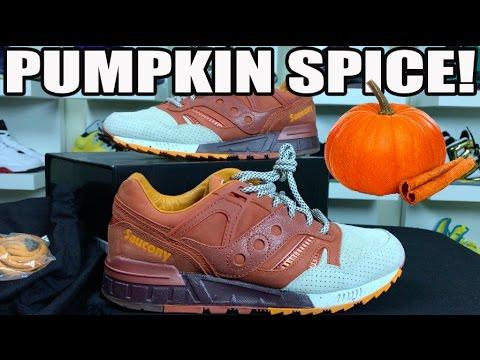 'PUMPKIN SPICE' SAUCONY ORIGINALS GRID SD REVIEW!