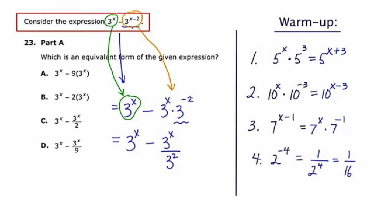 MathCamp321: PARCC (Algebra 2) Practice Test - Question 23