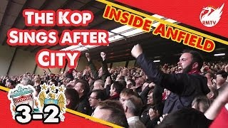 "Kop Sing ""We're Gonna Win The League"" at Full Time v Man City"