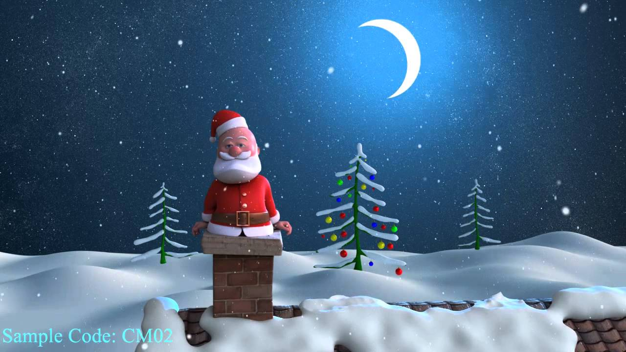Funny Santa Christmas Greetings with logo