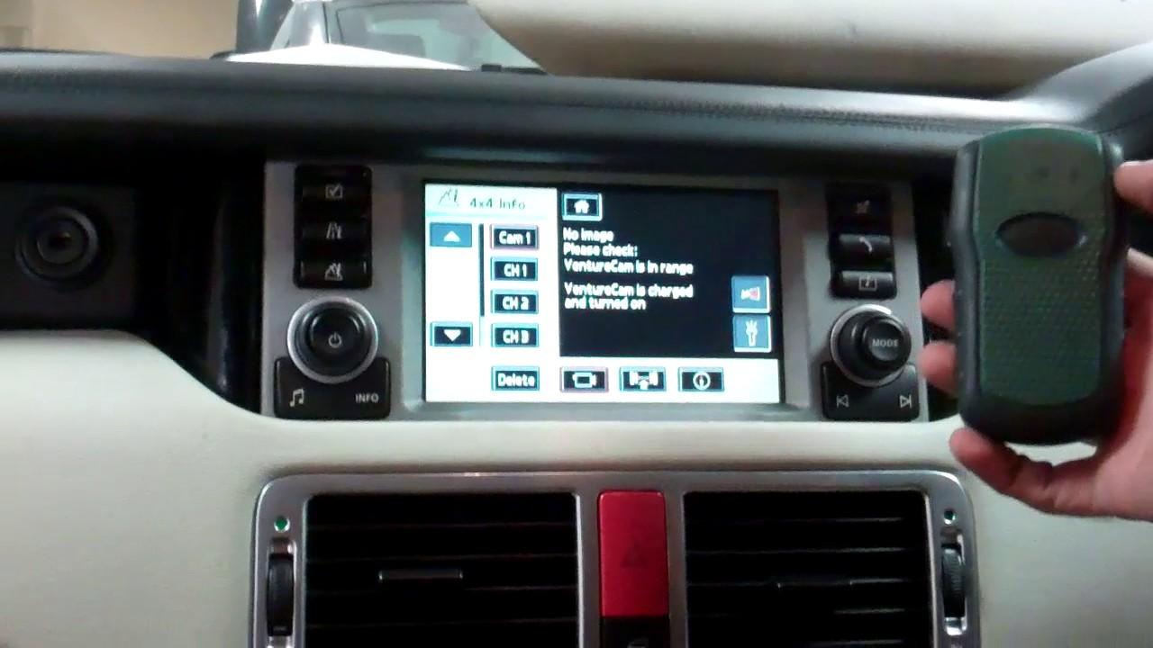 range rover l322 venture cam pairing and use
