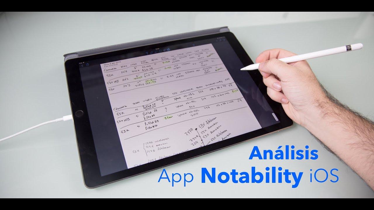 Análisis app Notability para iOS en Español