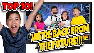 WE BUILT A TIME MACHINE!!! Kids React to GAME OF THE FUTURE! TOP 10 Favorite Videos Countdown #1
