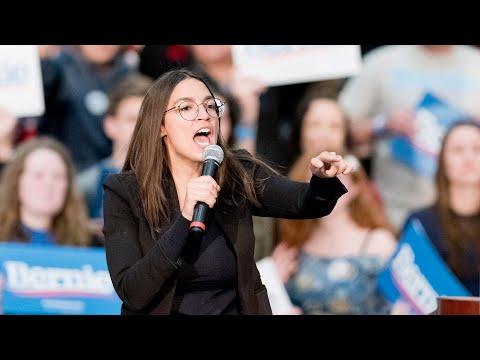 Alexandria Ocasio-Cortez campaigns for Bernie Sanders