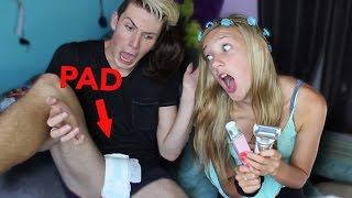 BROTHER TRIES MY GIRL PRODUCTS!