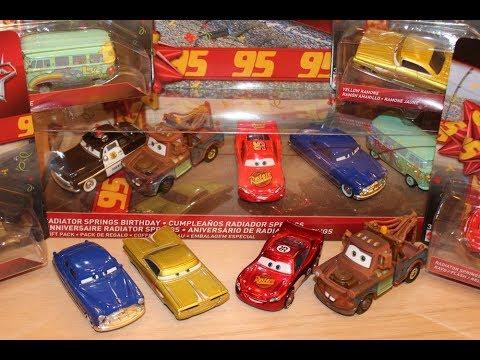 Mattel Disney Cars Birthday Radiator Springs Series Mcqueen Mater