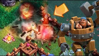 ZIPLAYAN SAVAŞ MAKİNALARI!! - Clash of Clans