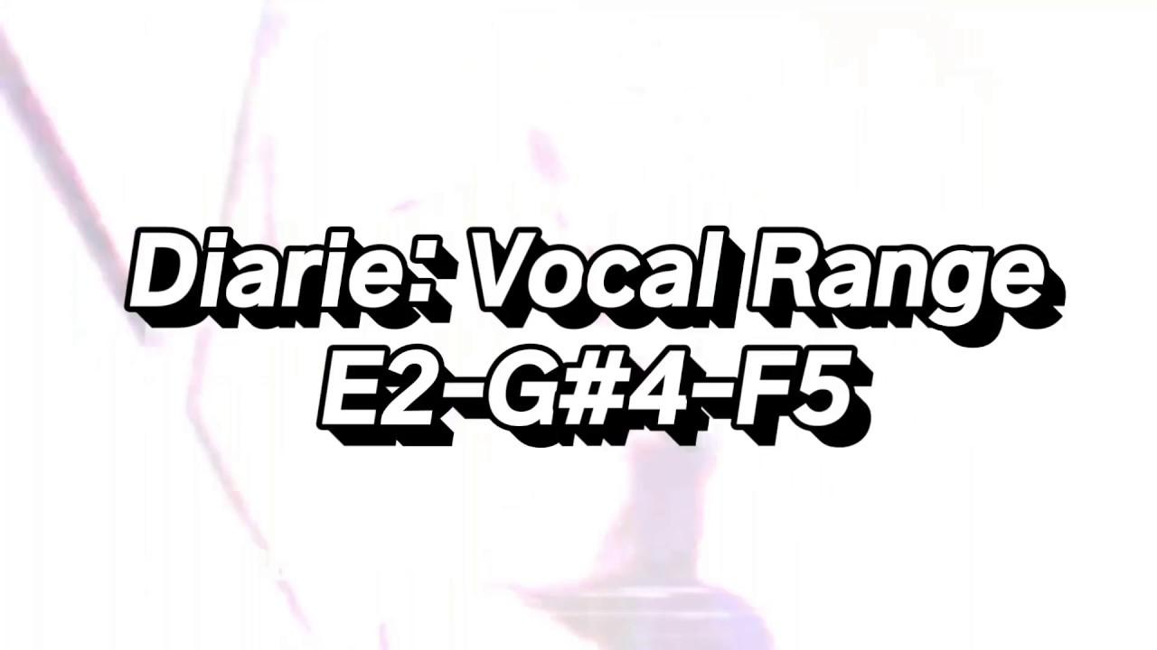 Xavier G - Diarie: Vocal Range (E2-G#4-F5) - YouTube
